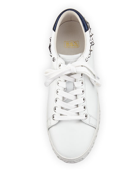 Dazed Studded Low-Top Sneakers, White