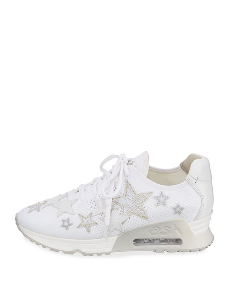 Lucky Star-Embroidered Sneaker
