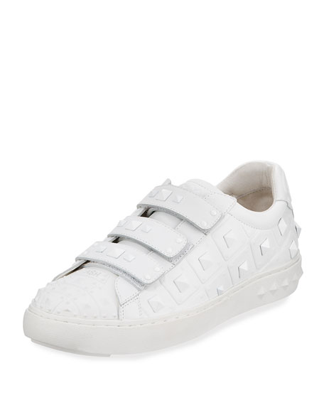 Peace Pyramid-Studded Sneaker, White