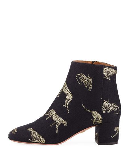 Brooklyn Tiger Jacquard Boot, Black