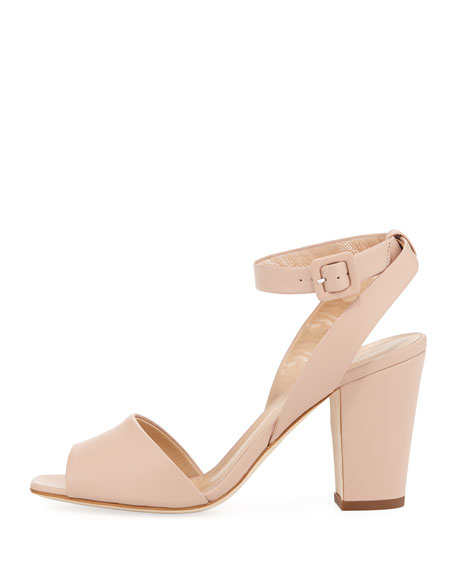 Leather Ankle-Strap 80mm Sandal