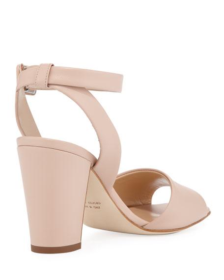 Leather Ankle-Strap 80mm Sandal
