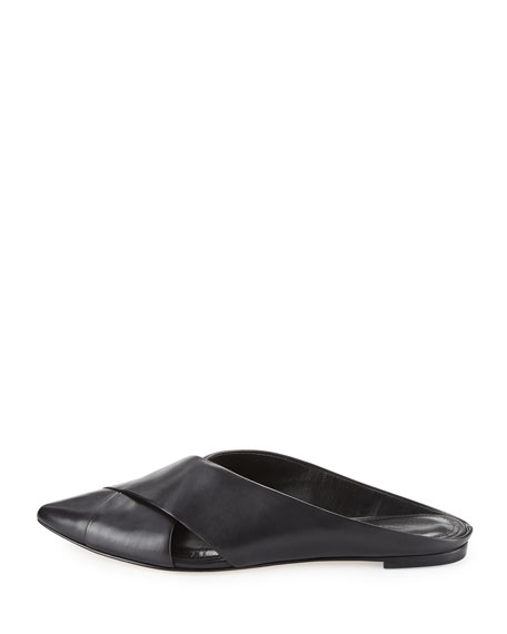 Sheldon Leather Point-Toe Mule