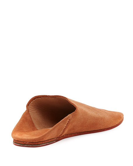 Suede Babouche Flat Slide