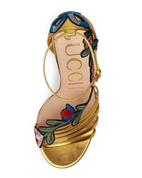 105mm Ophelia Embroidered Sandal