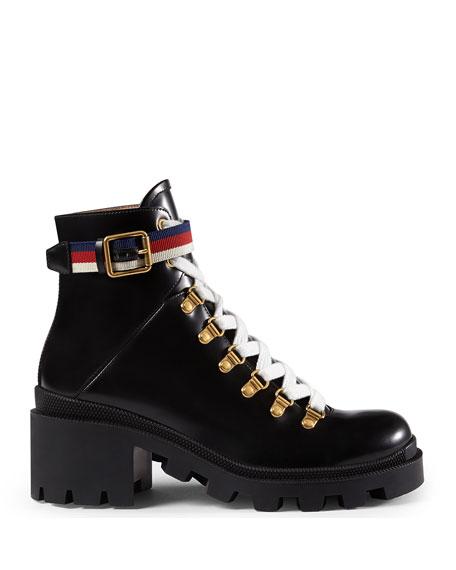 Leather Combat Boot