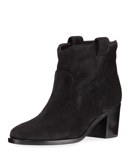 Nikki Suede Ankle Boot, Black
