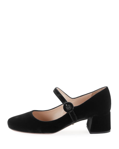 Velvet Mary Jane Pump
