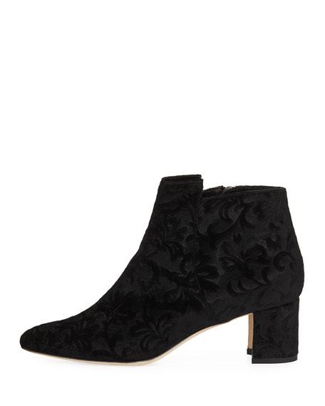 Belina Velvet Ankle Boot, Black