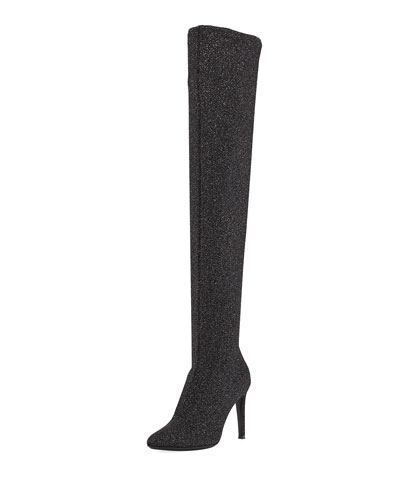 Natalie Stretch Sparkle Tall Boot