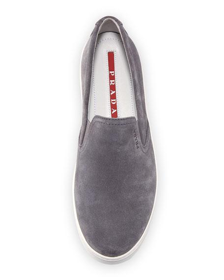 Suede Platform Slip-On Sneaker