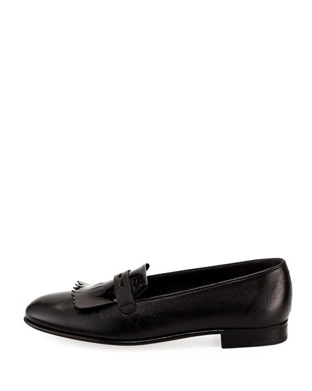 Leather Kiltie Loafer
