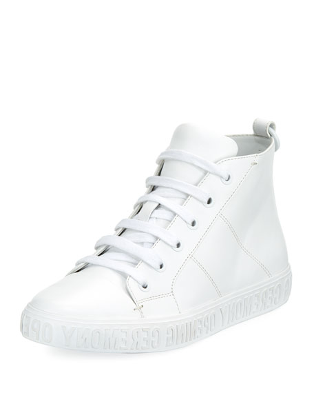 Opening Ceremony Howard High-Top Sneaker, White