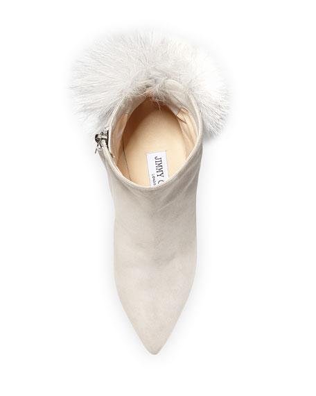 Tesler Fox Fur Pompom Bootie