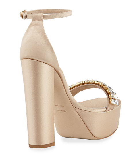 La Delicate Asymmetric Satin Pump