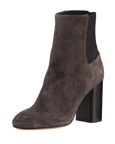 Agnes Suede Block-Heel Boot