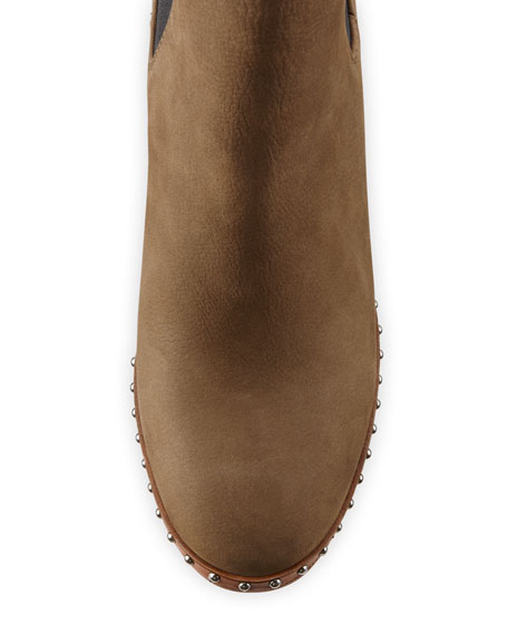 Romi Studded Block-Heel Boots