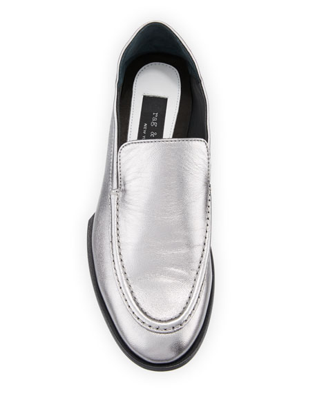 Alix Metallic Leather Convertible Loafer