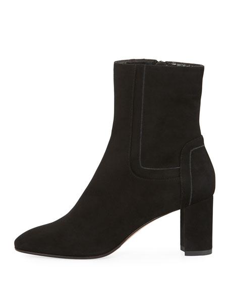 Victoriana Suede Block-Heel Boot