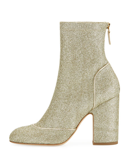 Melody Glitter Block-Heel Boot