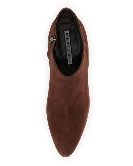 Brusta Suede Block-Heel Boot