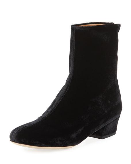Crushed Velvet Ankle Boot
