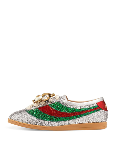 Glittered Low-Top Sneakers