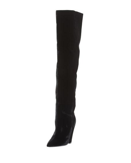 1c67fbde2171d Velvet Cone-Heel Tall Boot