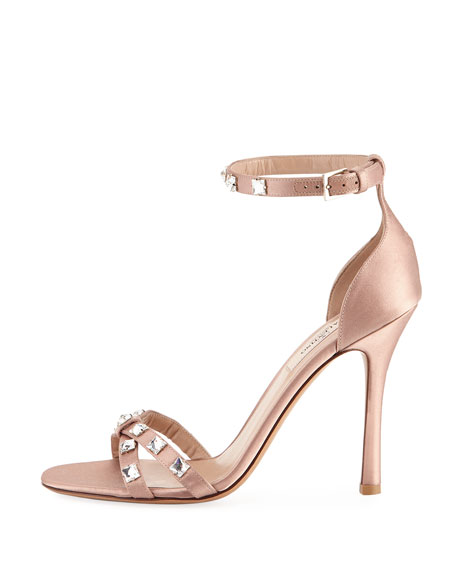 Rockstud Glam Satin City Sandal