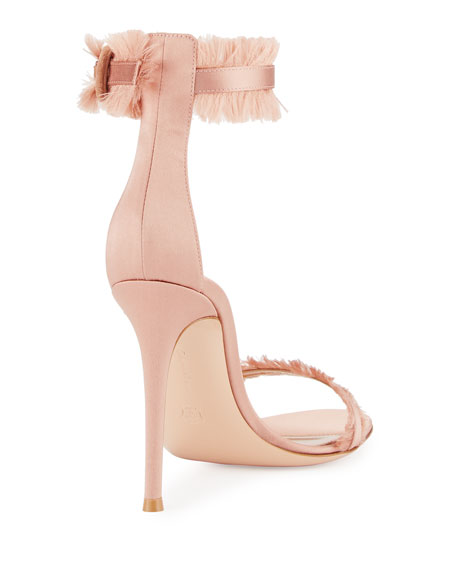 Fringed Silk Sandal