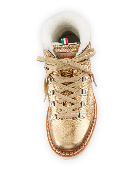 Margherita Metallic Fur-Lined Boot