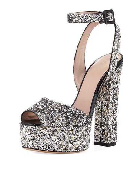 cec8bf1c42df Giuseppe Zanotti Glitter Platform 120mm Sandal
