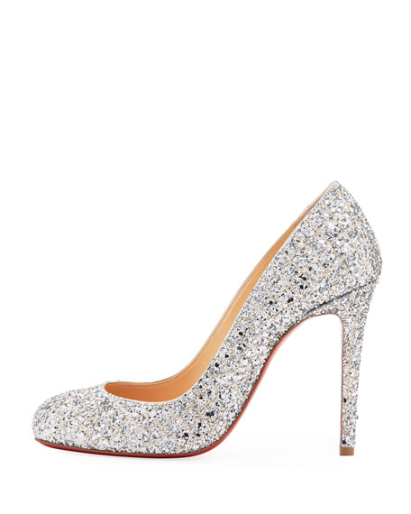 Fifille Glittered Red Sole Pump