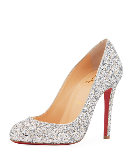 ade69929f2ae Christian Louboutin Fifille Glittered Red Sole Pump