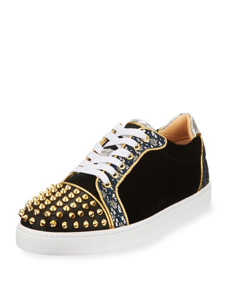 Vieira Spikes Lace-Up Low-Top Sneakers