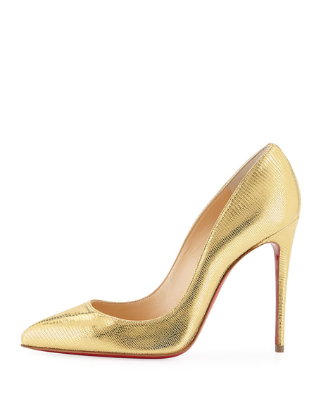 Pigalle Follies Embossed Red Sole Pump