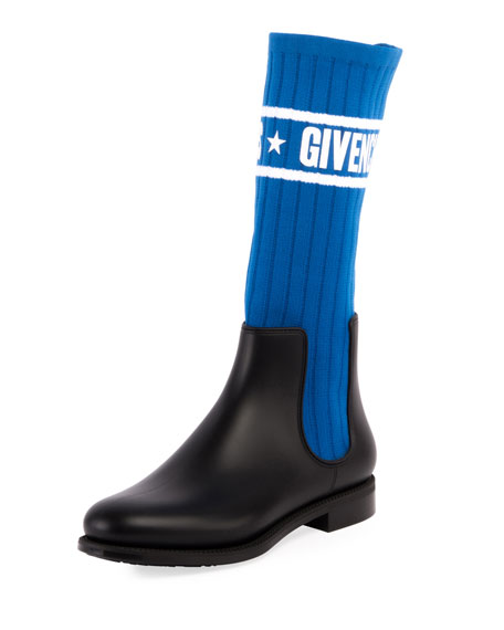 Storm Low Knit Rain Boot, Blue/Black
