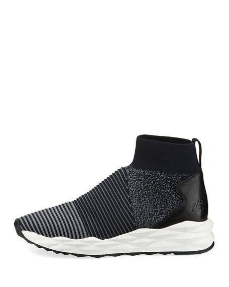 Spot Stretch-Sock High-Top Sneakers