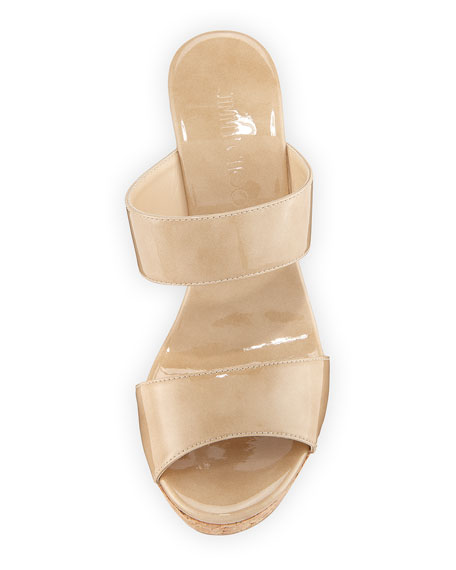 Parker Two-Band Wedge Slide Sandal