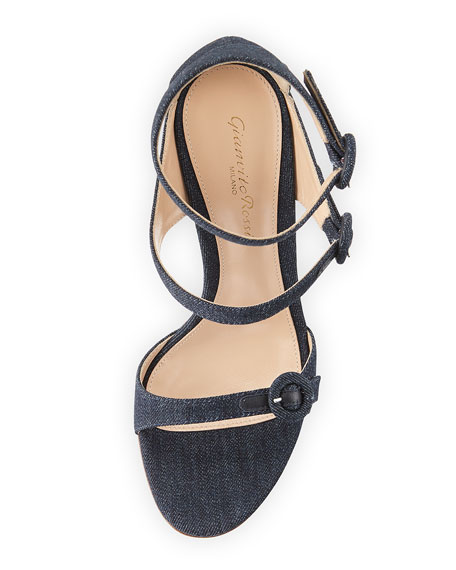 105mm Three-Strap Buckle Sandal