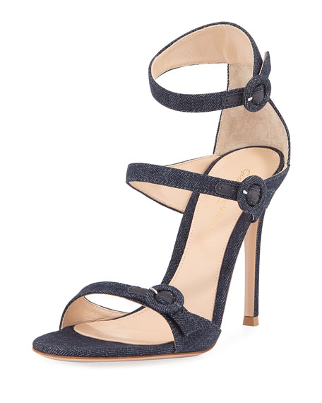 803d800d463a Gianvito Rossi 105mm Three-Strap Buckle Sandal
