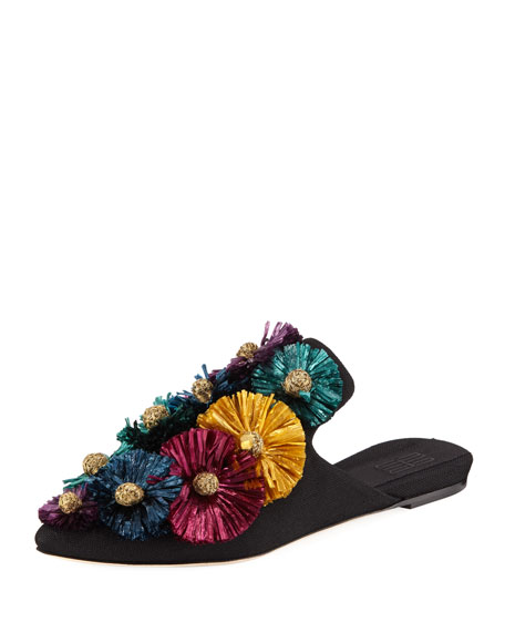 Flora Flat Slide Slippers
