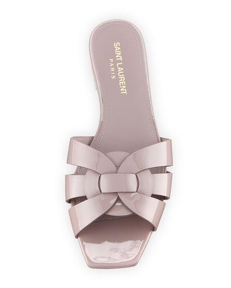 Tribute Patent Leather Flat Slide Sandal