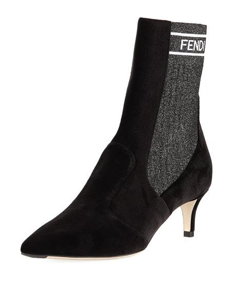 eaf91e48ea5a1 Fendi Rockoko Sock Chelsea Boots