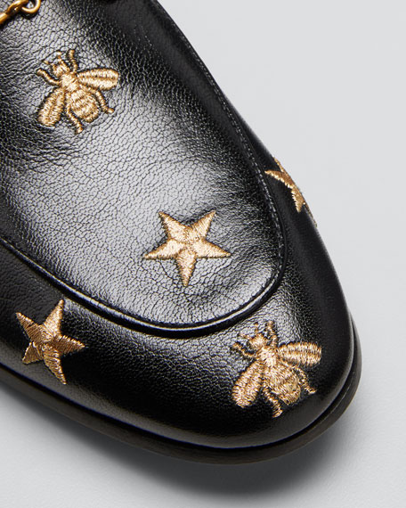 dd5673b82fc Gucci Jordaan Star   Bee Leather Loafer