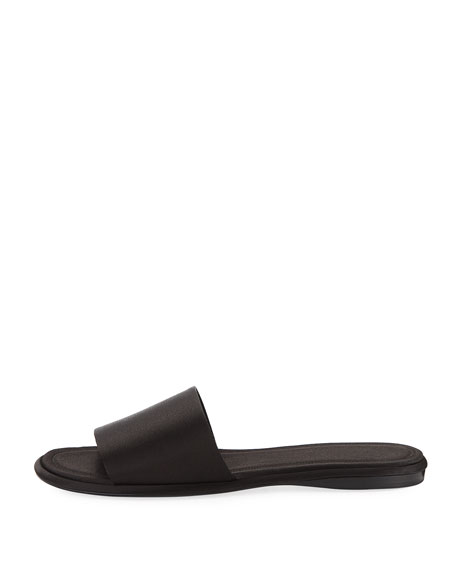 Ellen Satin One-Band Slide Sandal