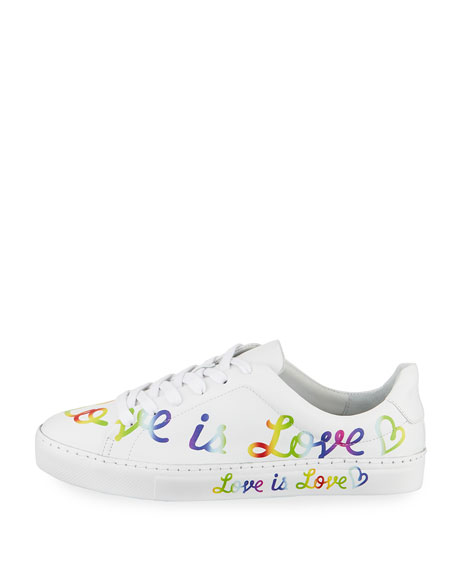 Love is Love Leather Sneakers