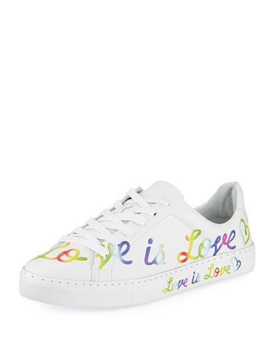 Love is Love Leather Sneaker