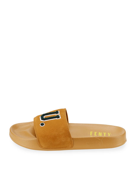 Leadcat Fenty Suede Pool Slide Sandal, Gold