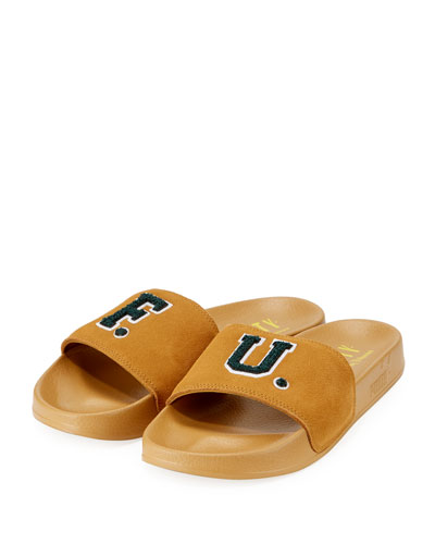 Leadcat Fenty Suede Pool Slide Sandal, Gold